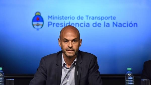 El ministro de Transporte, Guillermo Dietrich (Adrián Escandar)