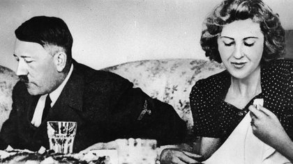 Hitler y Eva Braun (Getty Images)