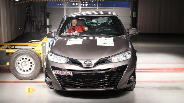 El Toyota Yaris obtuvo cuatro estrellas.