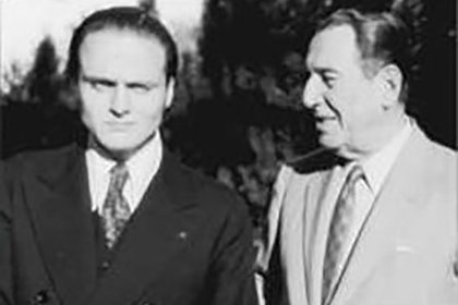 Rodolfo Galimberti y Juan Domingo Peron