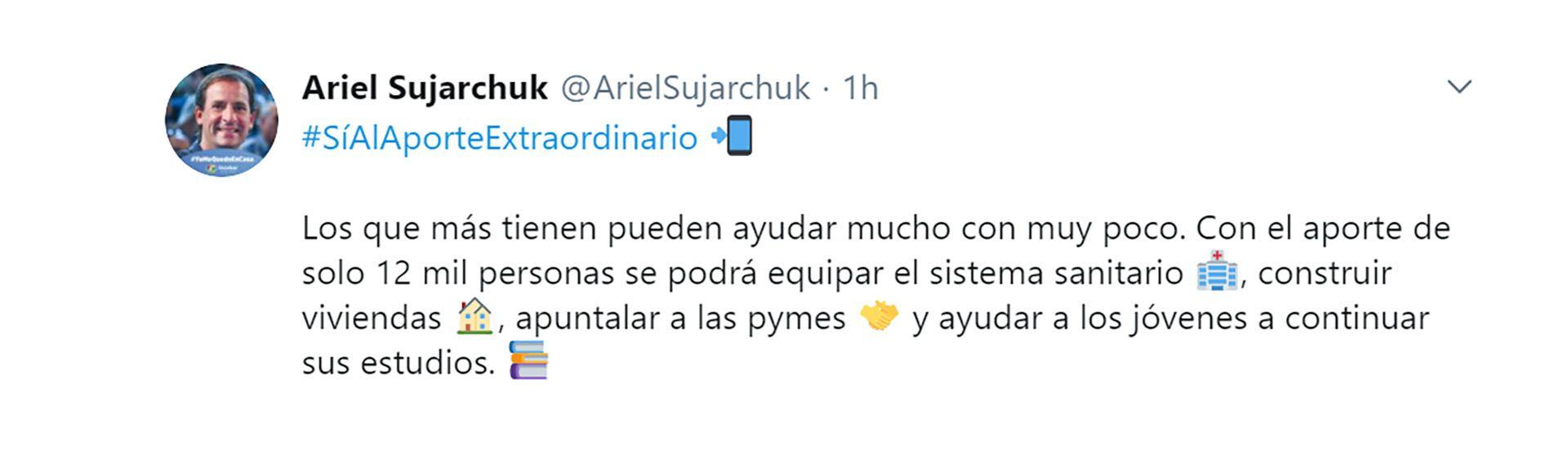 tuits intendentes respaldan impuesto a la riqueza ariel sujarchuk