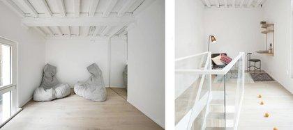 Basado en un diseño comprometido, todas las piezas de construcción histórica están pintadas de blanco