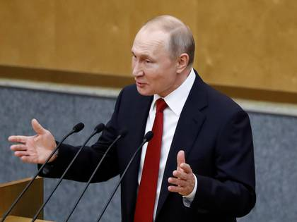 Russia's President Vladimir Putin delivers a speech during a session of the lower house of parliament to consider constitutional changes in Moscow, Russia March 10, 2020. REUTERS/Evgenia Novozhenina