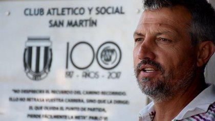 Daniel Ribero, presidente de San Martín de Progreso (Foto: Nicolás Stulberg)