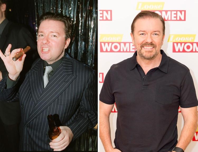 Ricky Gervais bajó unos 20 kilos (Shutterstock)