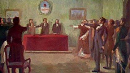 Los diputados juran la Independencia en el Congreso de Tucumán