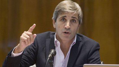 El secretario de Finanzas, Luis Caputo, regularizó la información atrasada del estado de la deuda pública (NA)