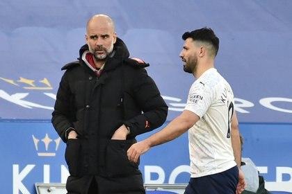 Agüero no ha tenido mucho rodaje esta temporada en el Manchester City de Pep Guardiola (Foto: REUTERS)