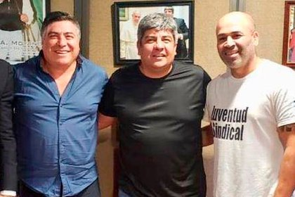 Ramón Muerza (a la izquierda) y Pablo Moyano
