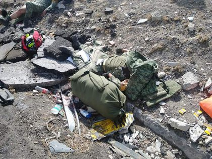 Varios militares resultaron heridos (Foto: Twitter/@amarilloalarcon)
