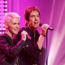 Marie Fredriksson y Per Gessle de Roxette en un show de televisión en octubre de 2006 (Reuters)