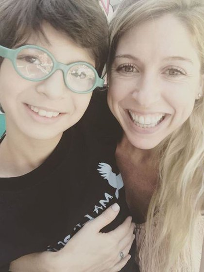 La actriz junto a su hijo, Romeo (Foto: Instagram)
