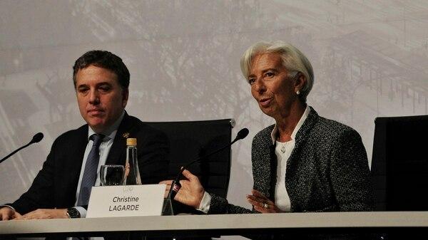 Nicolás Dujovne y Christine Lagarde (Patricio Murphy)