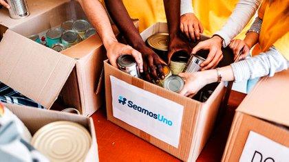 Seamos Uno propone distribuir 100.000 cajas de alimentos y artículos de limpieza e higiene en los hogares más vulnerables