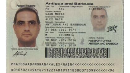 El pasaporte de Antigua y Barbuda de Alex Nain Saab Moran