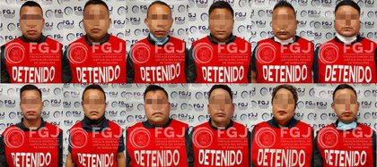 Twelve police officers allegedly responsible for the burned bodies in Tamaulipas were linked to the process (Photo: Attorney General's Office of Sonora)