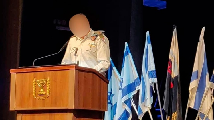 """""""I"""", durante un discurso ante soldados drusos de las FDI"""