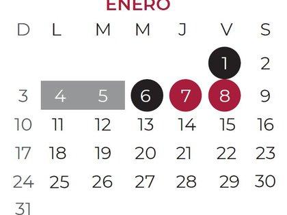 Calendario escolar 2020-2021 regreso a clases mes de enero (Foto: SEP)