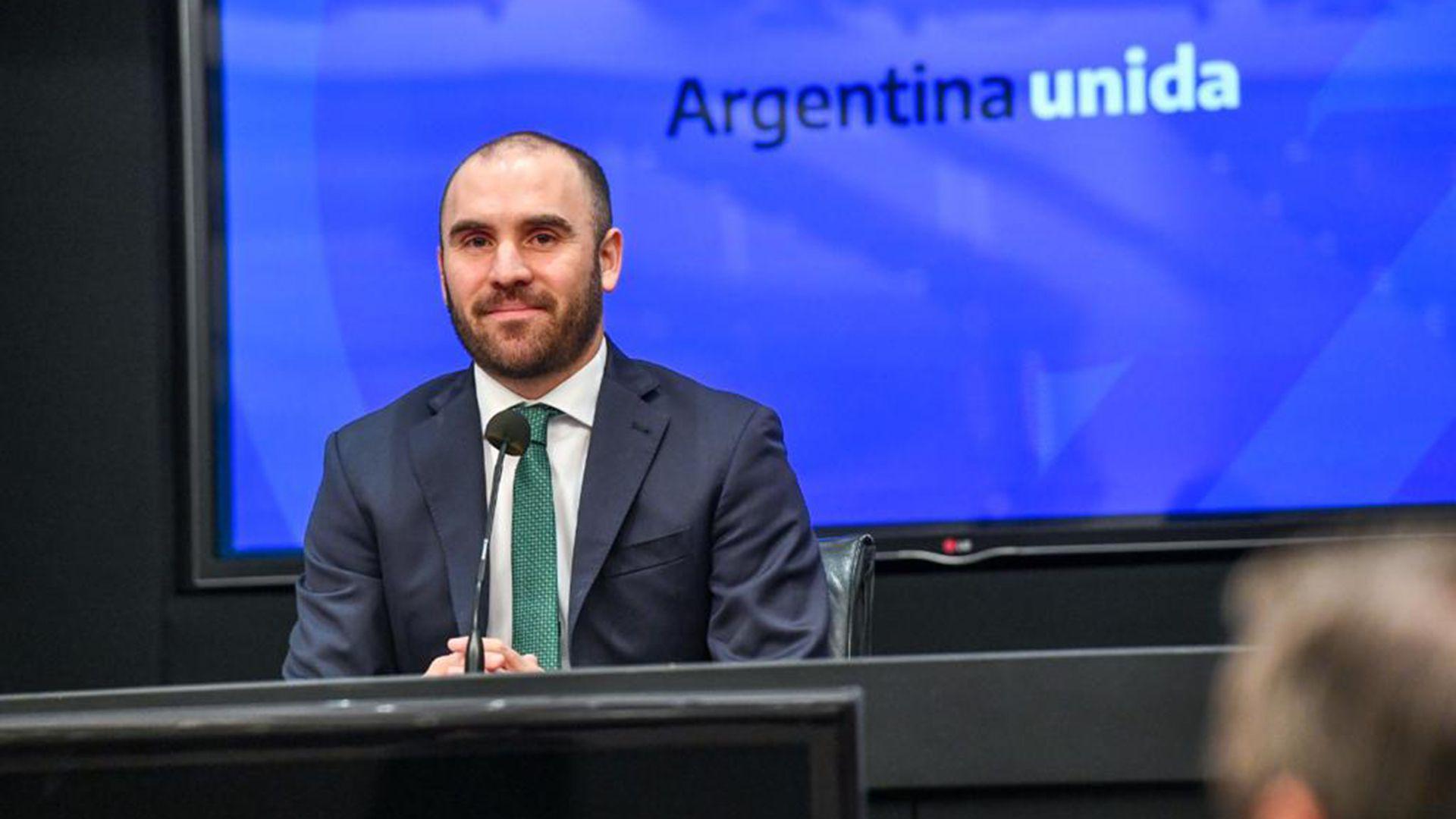 Martín Guzmán conferencia de prensa ministerio de Economía