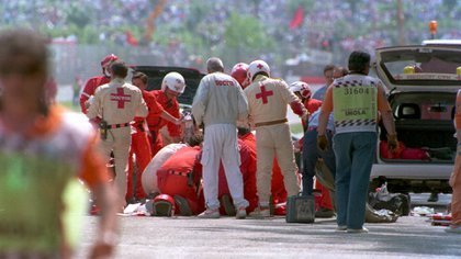 Ayrton Senna murió en un accidente durante una carrera en 1994 (Anton Want/ALLSPORT)