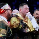 Boxing - Andy Ruiz Jr v Anthony Joshua - IBF, WBA, WBO & IBO World Heavyweight Titles - Diriyah Arena, Diriyah, Saudi Arabia - December 7, 2019. Andy Ruiz Jr after losing his match against Anthony Joshua. Action Images via Reuters/Andrew Couldridge