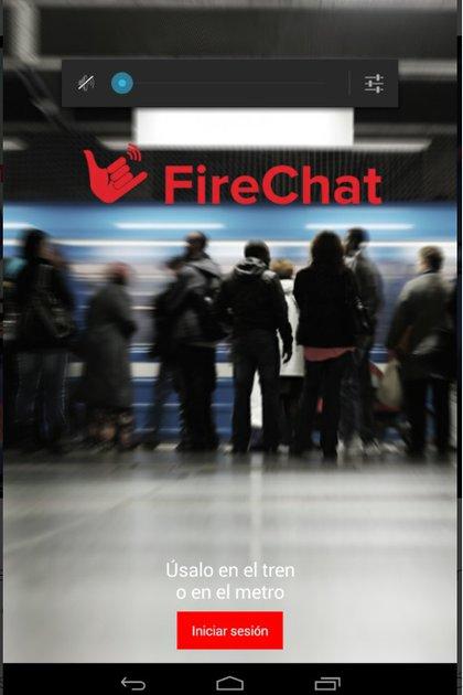 FireChat es un servicio de mensajería instantánea.