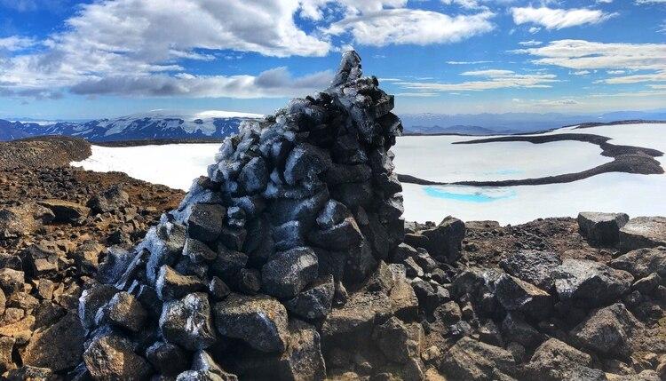 El glaciar antes de que comenzara a derretirse en una foto sin fecha (Rice University. Dominic Boyer/Cymene Howe)