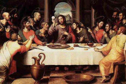 La última cena de Juan de Juanes, pintado en el año 1562. Museo del Prado