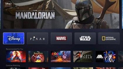 El inicio de la plataforma de streaming Disney Plus (Foto: Twitter/APowerfulFist)