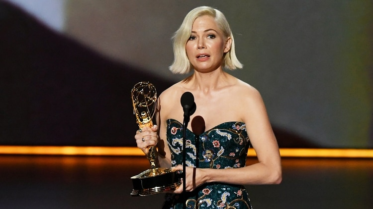 Michelle Williams se impuso en la terna a la mejor actriz principal (Kevin Winter/ Getty Images/ AFP)