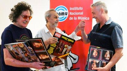 Charly García, David Lebón y Pedro Aznar disfrutan de la reedición de La grasa de las capitales (INAMU)