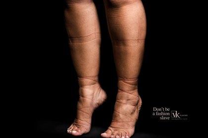 La campaña devela el dolor femenino en nombre de la moda
