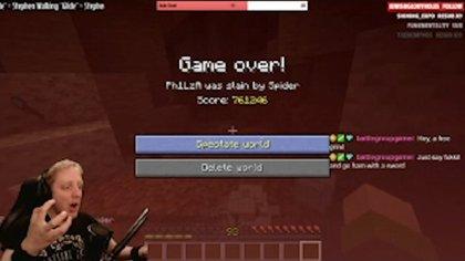 """""""¡No! ¿En serio? ¿Así es como muero?"""", dijo Watson durante la transmisión en vivo de su partida en Twitch, mientras en la pantalla se vio el trágico """"Game Over"""" (Foto: captura de pantalla)"""