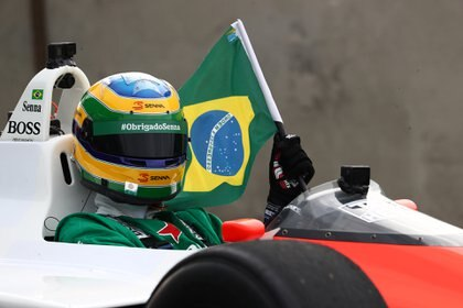 """Fue muy fuerte. Siempre soñé con poder manejarlo"", dijo Bruno, sobrino de Ayrton (Prensa GP de Brasil / Betoissa photos)"
