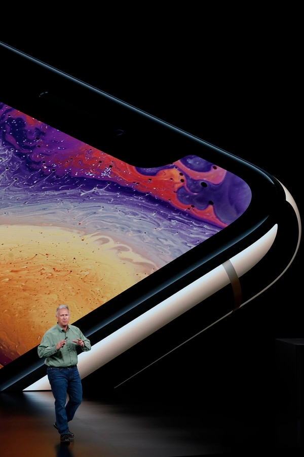 Philip W. Schiller, vicepresidente senior de marketing mundial de Apple, presentó el nuevo iPhone XS (Reuters)