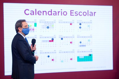 Esteban Moctezuma, titular de la Secretaría de Educación Pública, presentó el calendario para el ciclo escolar 2020-2021 en México (Foto: SEP)