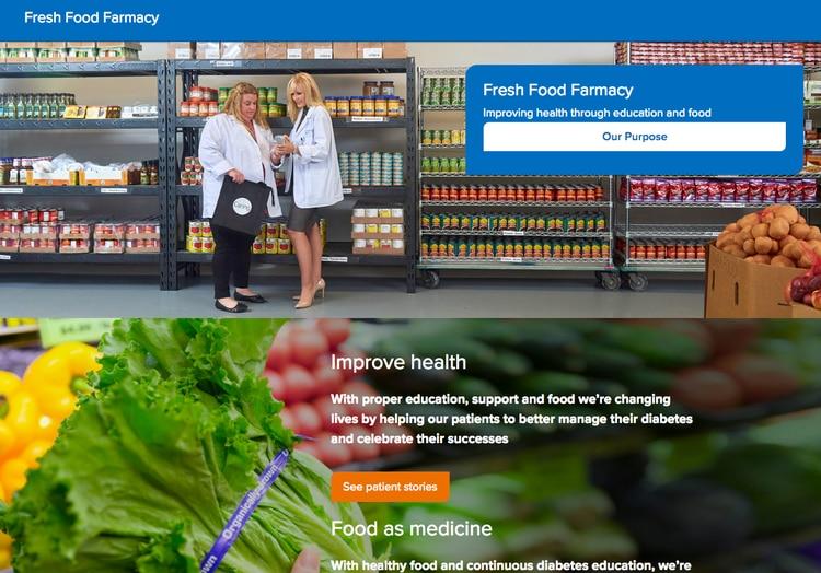 El programa FFF en Filadelfia, y otros similares, tienen mucho éxito. (Fresh Food Farmacy)