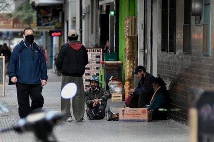 La situación de las personas en situación de calle se ha recrudecido en los tiempos actuales de pandemia (Foto: Nicolás Stulberg)
