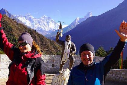 Fin del trekking de 103 kilometros en Nepal