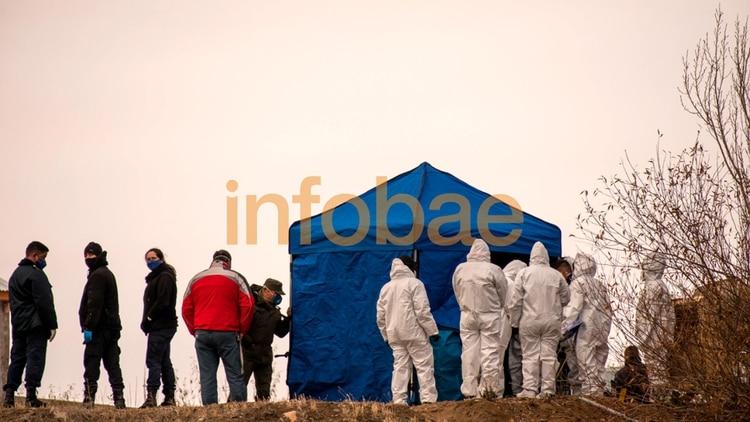 El lugar donde encontraron el cuerpo de Fabián Gutiérrez. (Alejandro Capelli)