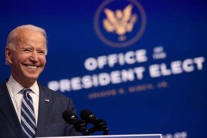 El equipo del trabajo del presidente electo de Estados Unidos, Joe Biden, estableció comunicación con la representación de México en dicha nación, la semana pasada (Foto: Reuters/Jonathan Ernst)