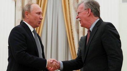 Putin se reunió el martes con John Bolton, asesor de Seguridad Nacional del gobierno de Trump (Reuters)