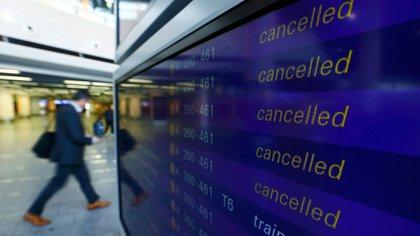 Por la huelga, 2.618 vuelos fueron cancelados (Reuters)
