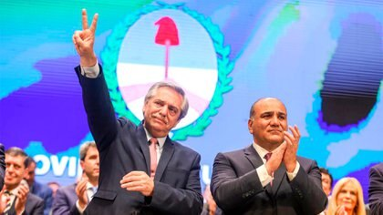 Alberto Fernández, presidente electo, y Juan Manzur, gobernador de Tucumán