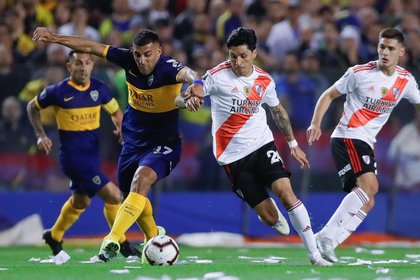 River porpuso adelantarlo al sábado 2 por el choque que tiene ante Palmeiras por la Copa Libertadores Foto:  EFE/Juan Ignacio Roncoroni/Archivo