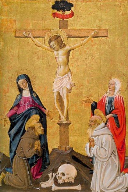 La madre de Jesús y María Magdalena, al pie de la cruz