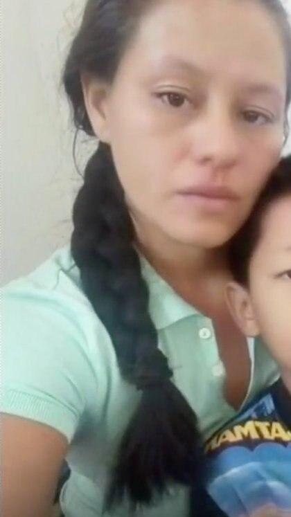 Meylin, de 30 años, madre de Wilton, estaba secuestrada, sin embargo su hermano pagó el rescate del menor de 10 años, posteriormente ella fue liberada esta semana Foto: (Familia Obregón)
