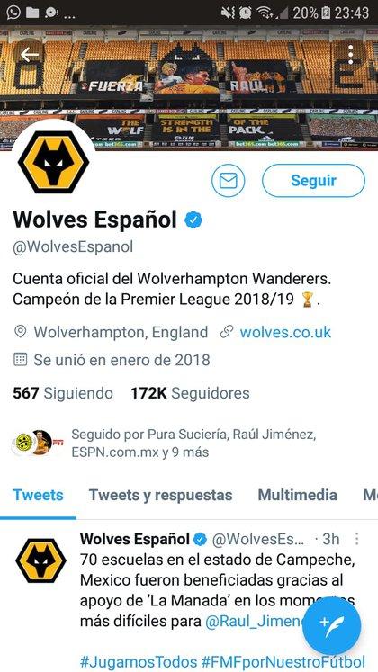 (Captura de Pantalla/Twitter@WolvesEspanol)