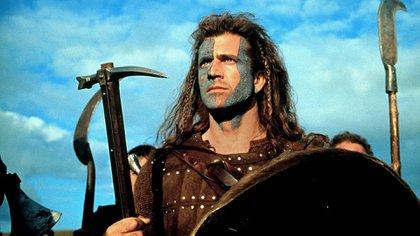 Como William Wallace en Corazón Valiente, película que le valió un Oscar como director