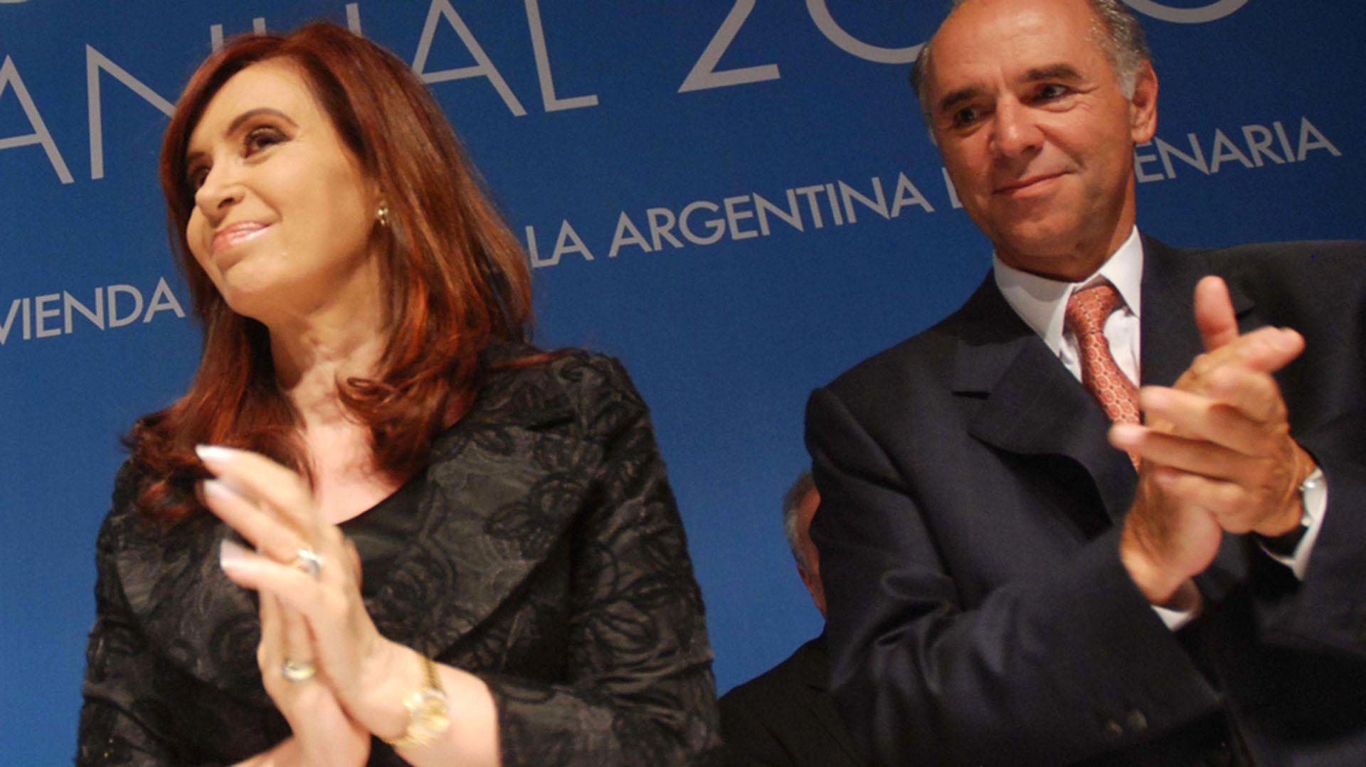 Cristina Kirchner y Juan Chediack (Télam)